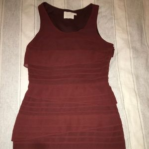 Mini bodycon Urban Outfitters rust chiffon dress